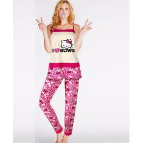 Pijama Para Mujer Hello Kitty Incluye Blusa Y Pantalon 4645