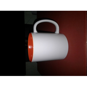 Tazas Blancas Con Interior De Color Importada Lista Para Sub
