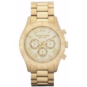 Relógio Feminino Michael Kors Mk8214 Dourado Grande Caixa