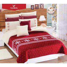 Cobertor Matrimonial/individual Borrega Modelo Navideño