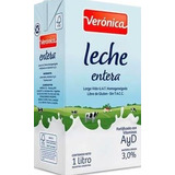 Leche Entera Larga Vida X 1 Litro Marca Veronica