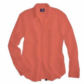 Camisa Slim De Hombre Coral
