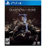 Shadow Of War Para Ps4 Nuevo