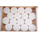 Velas Decorativas Flutuantes - Rosa Branca - 32 Unidades