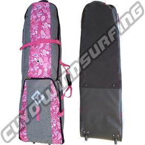 Bolso Funda Wakeboard Kitesurf Boardbag Viaje C Ruedas Rosa