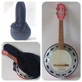 Banjo Acústico Clave Profissional/ Rosa Com Capa Simples