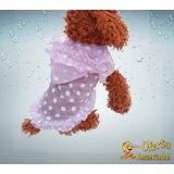 Roupa De Cachorro Leve Cor Roxa Com Capa-chuva - Tamanho G