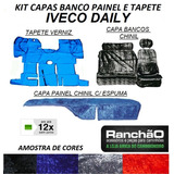 Capa Chinil Banco Painel E Tapete Verniz Iveco Daily