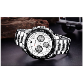 88fa45f99bb Relógios Brancos Masculinos - Relógio Masculino em Pernambuco no ...