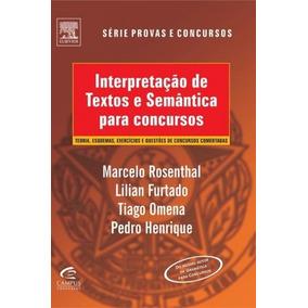 Livro Interpretação De Textos E Semântica Para Concursos
