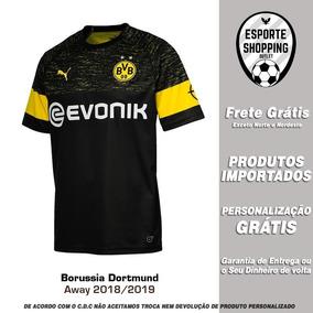 Camisa Borussia Dortmund 18 19 Away Uniforme 2 Reus Gotze 4adb396630d56