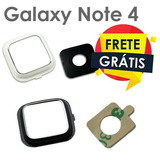 Lente Vidro Camera Galaxy Note 4 Vidrinho + Moldura +adesivo