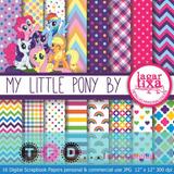 Kit Imprimible Fondos Pequeño Pony Papel Digital Little Pony