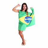 Fantasia Vestido Bandeira Brasil Sulamericana