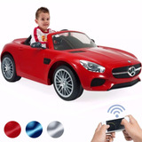 Montable Electrico Mercedes Benz Injusa 6v (rojo-azul-plata)