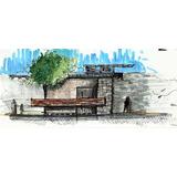 Kit Desenho Arquitetura 16 Marcadores + 2 Caneta Nanquim