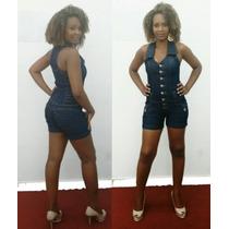 Macaquinho Feminino Macacão Jeans Plus Size Lindo Lojas Bh