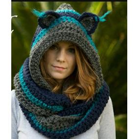 Cuello Capucha Tejido A Crochet