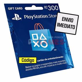Cartão Playstation Network Brasileira R$300 Reais Psn Brasil