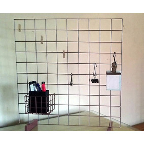 Organizador De Escritorio Malla Metal Grid 50 X 50 Con Base