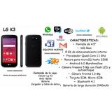 Teléfono Android Lg K3, 1gb De Ram, 8gb, Cámara De 5mp