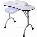 Mesa Para Manicure Profesional Blanca Plegable