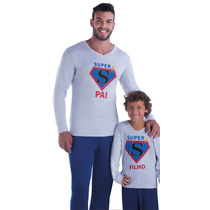 Pijama Longo Inverno Masculino Frio Tal Pai Tal Filho