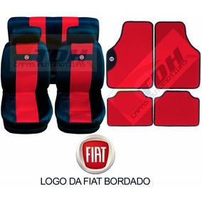 Uno Mille Fire Kit Jogo Capa Banco Carro Fiat Kit De Tapetes