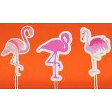 50 Toppers Flamingos Enfeites Para Festa