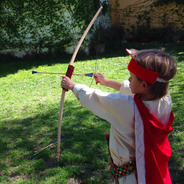 Kit Arco + 3 Flechas Madera Juego Infantil Tiro Al Blanco