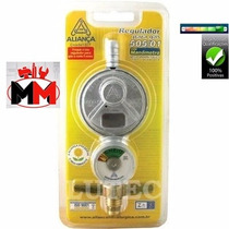 Registro Regulador De Gás C/ Manômetro 505/01 Aliança
