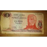Lote De Dos Billetes Antiguos De 1 Y 10 Pesos