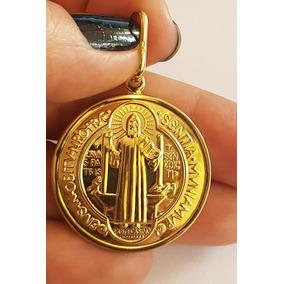 Dourado Jóias Medalha De Ouro São Bento 2,2g (sentado) - Pingentes ... b5ca449815