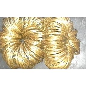 Pulseiras Finas De Capim Dourado Kit De 100 Und
