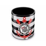 Caneca Personalizada Preta Time Corinthians Futebol Clube