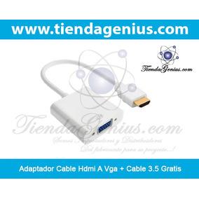 Adaptador Cable Hdmi A Vga + Cable 3.5 - Tiendagenius.com