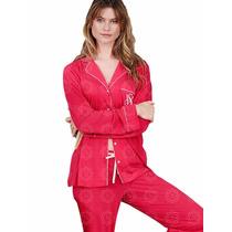 Natassja Victorias Secret Pijama Chaqueta Pantalon Y Antifaz