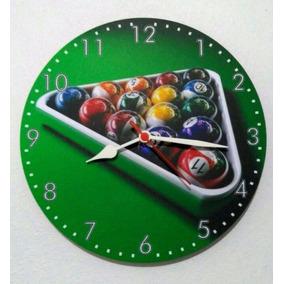 Relógio Parede Sinuca Bilhar Bar Boteco Jogo Snooker 30cm