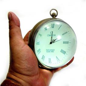 Antiguidade Raríssimo Relógio D Mesa Omega Bola Cristal 1882