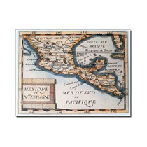 Map Of Mexico Or New Spain, 1625 Canvas Art