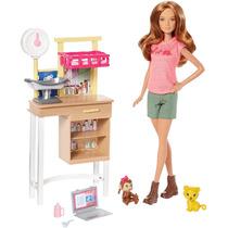 Boneca Barbie Veterinária Dvg11