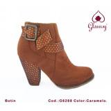 Botin Taco 7 Zapato De Mujer Glamsy Store
