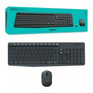 Combo Teclado Mouse Inalambrico Kit Mk235 Logitech Usb Es Pc