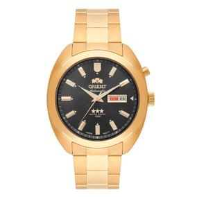 Relógio Orient Masculino Automático 469gp077 G1kx Dourado