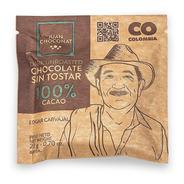 Chocolate 100% Cacao Sin Tostar