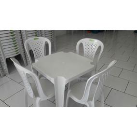 Jogo De Mesa E Cadeira De Plástico Topplast