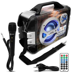 Caixa De Som Portátil Lenoxx Ca-325 Mp3 Fm Bluetooth Karaokê