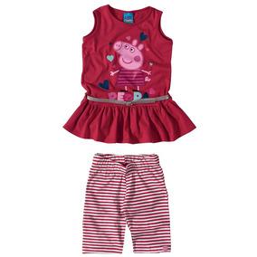 Conjunto Infantil Feminino Peppa Pig Malwee