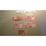 5 Anitguos Billetes 1000 2000 Liras Italianas