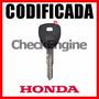 Copia Llave Honda Accord Civic Cr-v Crv Chip Codificada